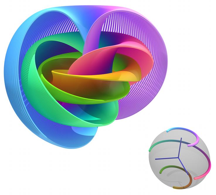 Visualizando la hiperesfera a través de la fibración de Hopf