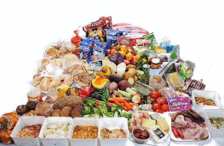 La comida en la basura