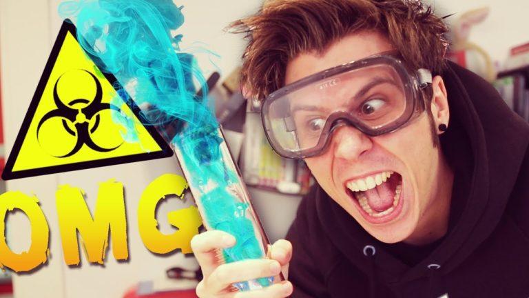 El Rubius hace un vídeo de química y la lía parda