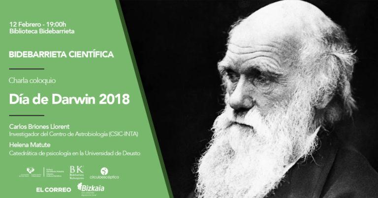 Los primeros pasos de la evolución darwiniana y sesgos cognitivos y evolución, en el Día de Darwin 2018