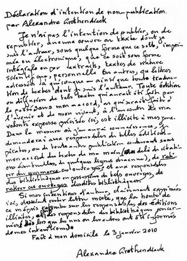 Alexandre Grothendieck, el genio rebelde