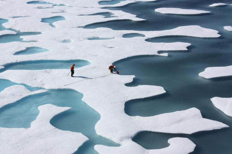 La forma de las charcas árticas