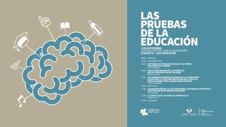 Jornada «Las pruebas de la educación» en Donostia