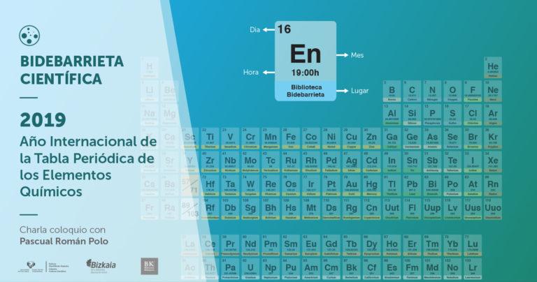 2019, Año Internacional de la Tabla Periódica de los Elementos Químicos