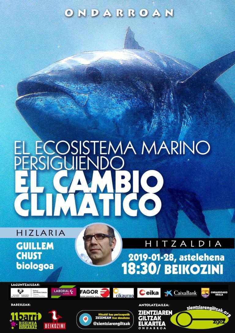El ecosista marino persiguiendo el cambio climático