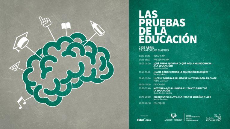"""Jornada """"Las pruebas de la educación"""" en Madrid"""