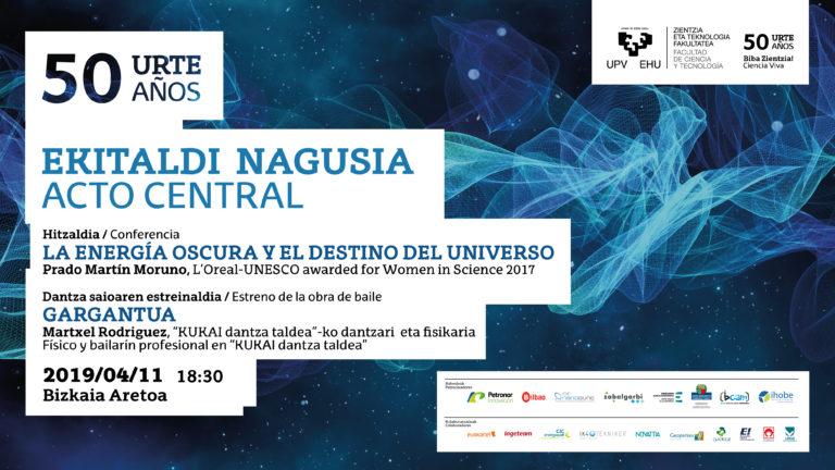 La energía oscura y la danza protagonistas en el 50 aniversario de la Facultad de Ciencia y Tecnología de la UPV/EHU
