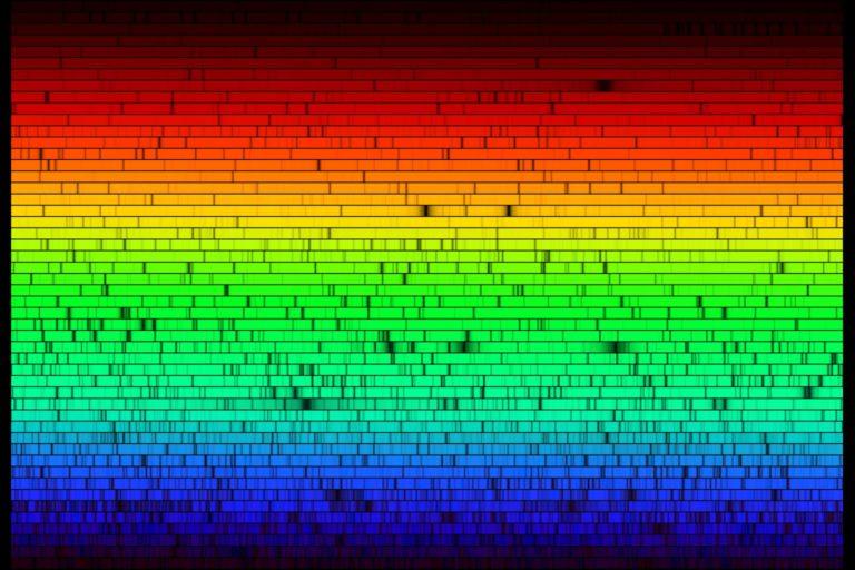 Los espectros de absorción de los gases