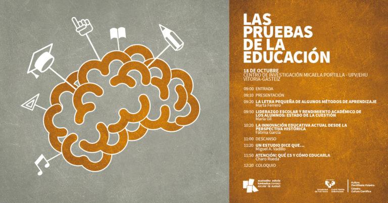 Jornada «Las pruebas de la educación» en Gasteiz