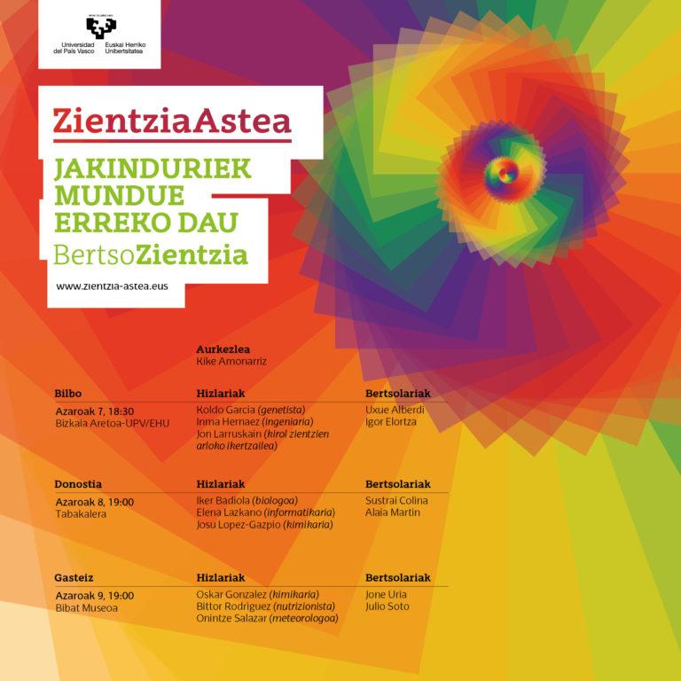 Bertsozientzia: ciencia y bertsolarismo de la mano en Zientzia Astea