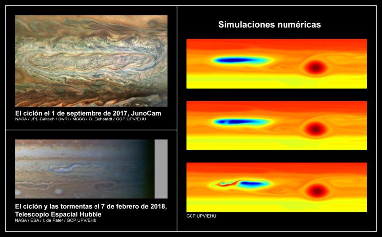 Tormentas convectivas de agua muy energéticas en Júpiter