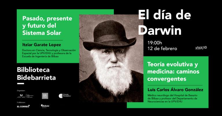 El Sistema Solar y teoría evolutiva y medicina, en el Día de Darwin