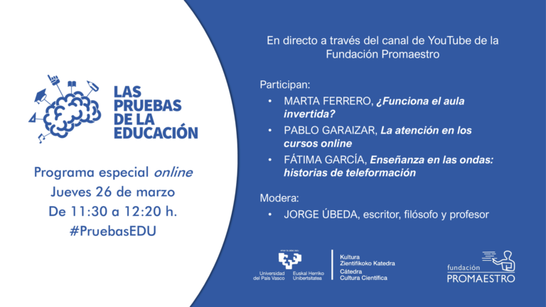 26 de marzo, programa especial online: Las pruebas de la educación