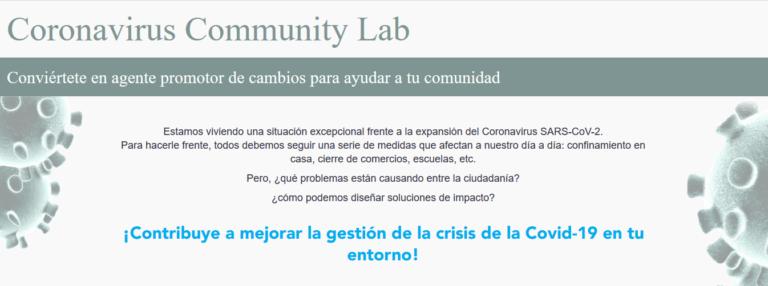 Coronavirus Community Lab: recabando proyectos de ciencia ciudadana