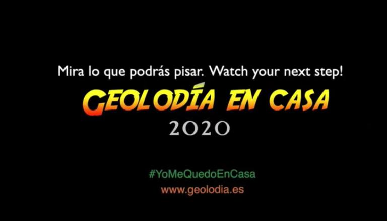 Geolodía 2020, mira lo que pisas desde casa