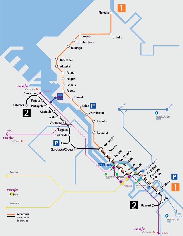La ría y el metro